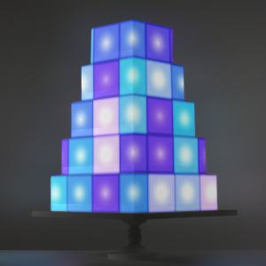 Mosaic Dancefloor video template projection mapped on a cake